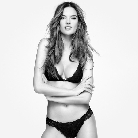 Alessandra Ambrosio:  What I am wearing underneath? Character.
